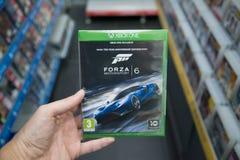 Videogame för Forza Motorsport 6 på XBOX en Arkivbilder