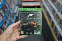 Videogame för Forza Motorsport 5 på XBOX en Royaltyfria Bilder