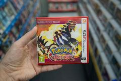Videogame för Pokemon omegarubin Arkivbild