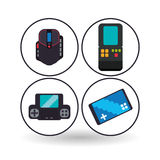 Videogame icon design. Videogame concept with icon design, vector illustration 10 eps graphic Royalty Free Stock Photo