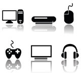 Videogame icons Royalty Free Stock Images