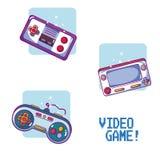 Videogame retro portable consoles. Vector illustration graphic design Stock Photo
