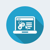 Videogame website icon. Videogame website vector illustration icon Stock Photography