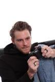 Videogamer messo a fuoco Fotografia Stock Libera da Diritti