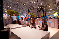 videogamers playstation κίνησης Στοκ Εικόνες