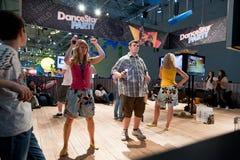videogamers playstation κίνησης Στοκ εικόνα με δικαίωμα ελεύθερης χρήσης
