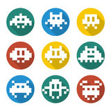 Videogames icons Stock Photography