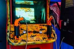 Videogioco arcade della fucilazione Immagini Stock Libere da Diritti