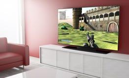 Videogioco astuto della televisione Immagini Stock