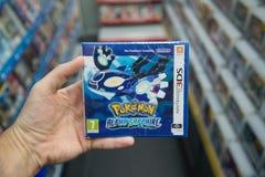 Videogioco di Pokemon Alpha Sapphire Fotografia Stock Libera da Diritti