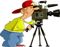 Videographer Stock Photo