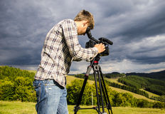 Videographer imagem de stock royalty free