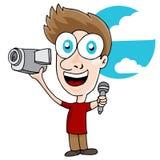 Άτομο Videographer Στοκ εικόνες με δικαίωμα ελεύθερης χρήσης