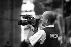 Videographer dos meios Imagem de Stock
