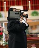 Videographer en la boda Fotografía de archivo libre de regalías