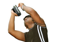 Videographer with Handy Cam Stock Image