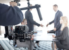 Free Videographer Making Video Of Business People Royalty Free Stock Photography - 97047737