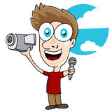 Videographer Man Royalty Free Stock Images