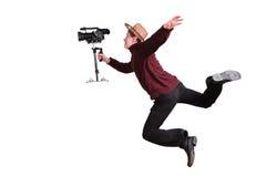 Videographer pazzesco fotografia stock