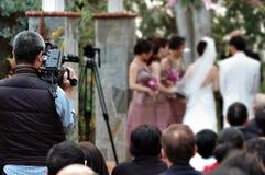 videographerbröllop Royaltyfri Bild