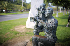 Videographers statue Stock Photography