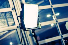 Videography Lighting Panel. LED Panel Modern Videography Lighting System. Continuous Lighting Stock Image
