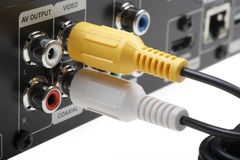 Videohefboom DVD met kabel stock afbeeldingen