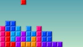 Videojuego de Tetris stock de ilustración