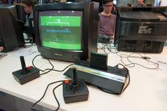 Videojuegos clásicos en la semana 2014 de los juegos en Milán Fotos de archivo