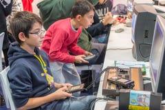 Videojuegos clásicos en la semana 2014 de los juegos en Milán Fotos de archivo libres de regalías