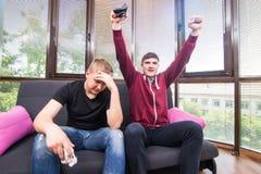 Videojuegos del juego de los amigos Fotos de archivo libres de regalías