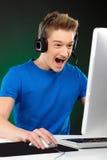 Videojugador. Foto de archivo libre de regalías