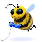 videojugador de la abeja 3d Imagenes de archivo