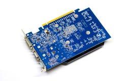 Videokaart op een Witte Achtergrond, PC-Hardware Stock Foto's