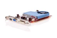 Videokaart PCI die op een witte achtergrond wordt geïsoleerds royalty-vrije stock foto's