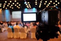Videokamera in der Konferenz Stockbilder