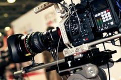 Videokamera för professionell royaltyfria foton