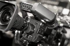 Videokamera för professionell royaltyfri fotografi