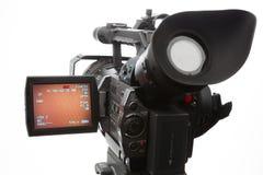 Videokamera mit Schirm Lizenzfreie Stockbilder