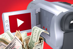 Videokamera - verdienen Sie Geld lizenzfreie abbildung