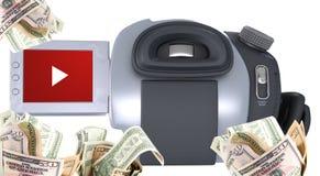 Videokamera - verdienen Sie Geld vektor abbildung