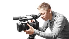 Videokamerabetreiber Lizenzfreie Stockfotografie