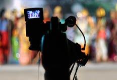 Videokamerahintergrund Stockfoto