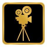 Videokameraknapp Royaltyfria Bilder