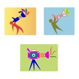Videokameralogo royaltyfri illustrationer