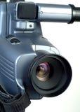 Videokameraobjektiv, das bis die rechten 2 zeigt Stockfoto
