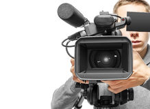 Videokameraoperatör Royaltyfri Fotografi