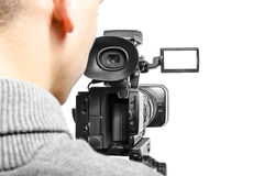 Videokameraoperatör Royaltyfri Foto