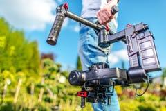 Videokameraoperatör arkivfoto