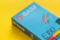 Videokassett för BASF VHS, retro video teknologi Royaltyfri Bild